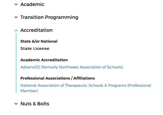 program's Academic detail from AKoT