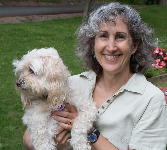 Hillary Kramer and her dog Boz