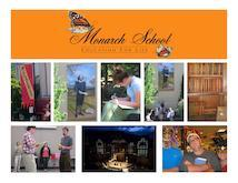 Monarch school photo collage