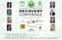 Recovery conference announcement banner