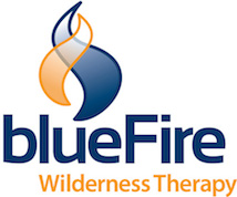 Blue fire wilderness therapy logo