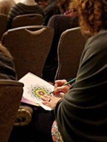 Student coloring mandala