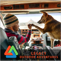 Legacy Outdoor Adventures photo of a dog and male giving knuckles