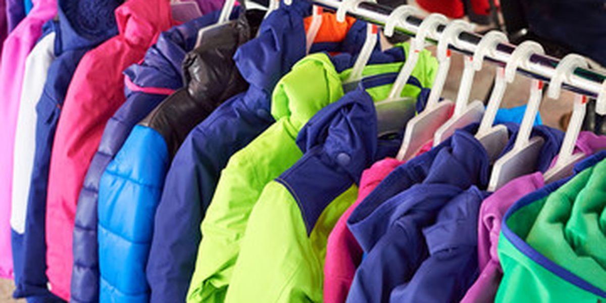 Picture of coats for the coat drive