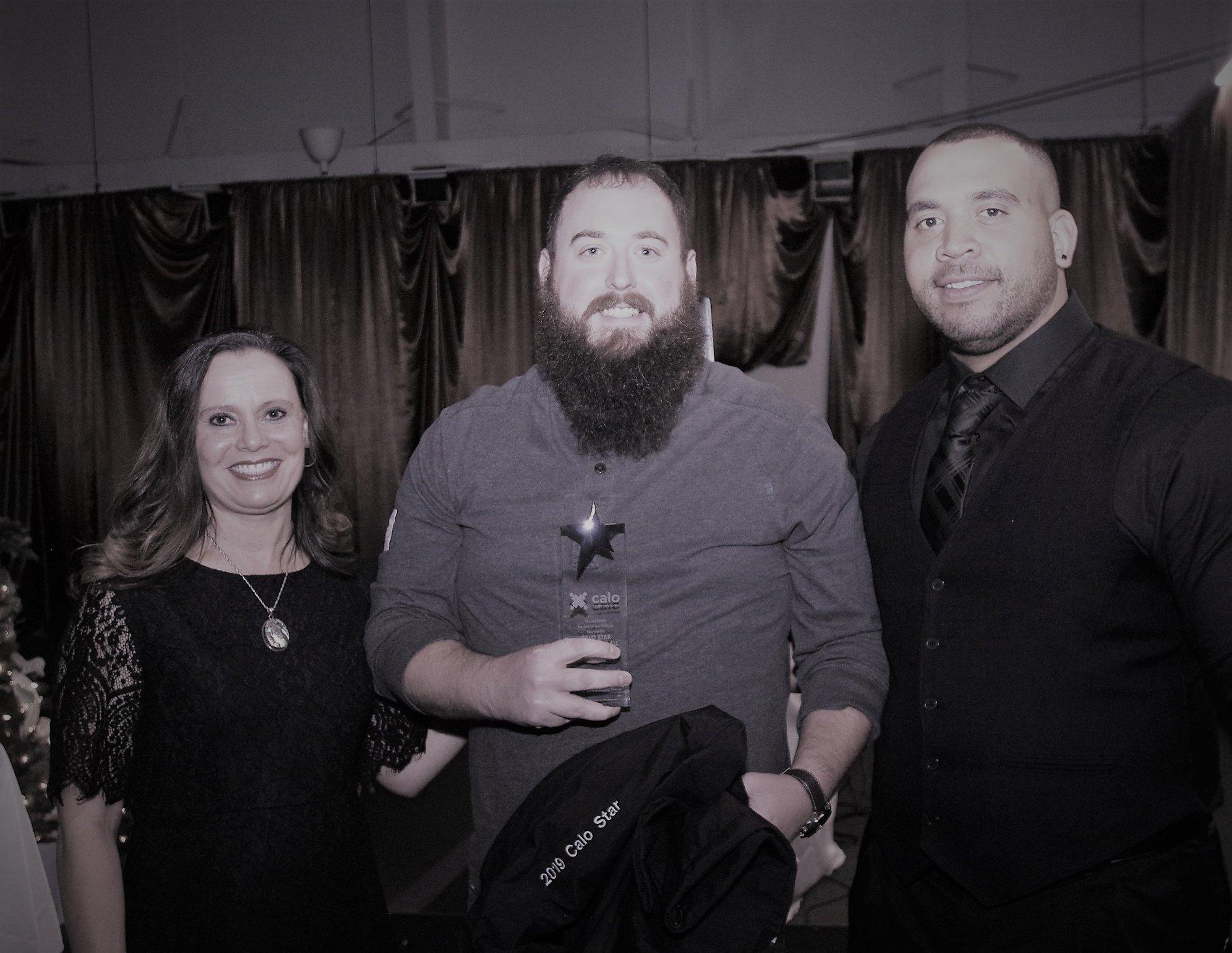 Zack Vogus receiving Calo award.