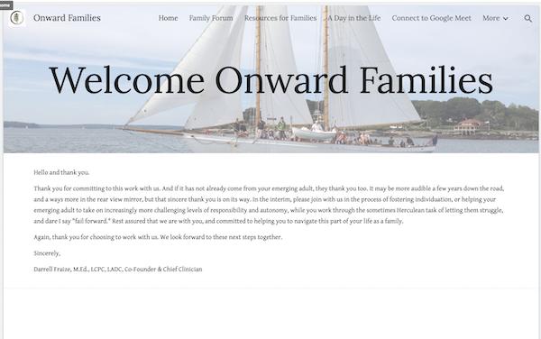 Onward parent portal