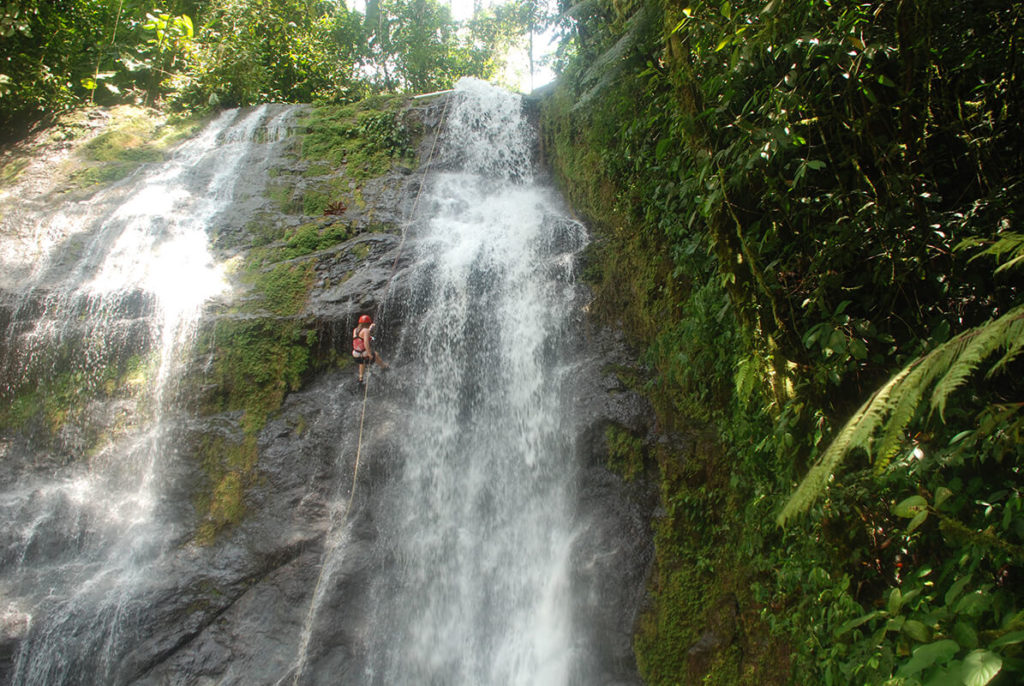 photograph of a Costa Rican waterfall.