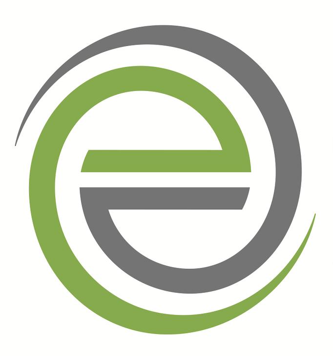 Evoke Therapy Programs E logo in Green & Gray