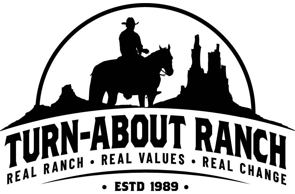Turn-About Ranch logo, est in 1989