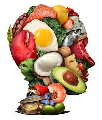 picture of the brain with the foods