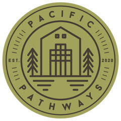logo, Pacific Pathways which is located in Petaluma, CA