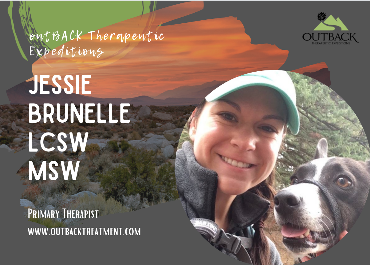 image of Jessie Brunelle, MSW, LCSW, primary therapist at outBACK Therapeutic Expediations